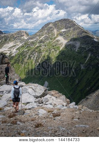 Hiking in the coastal mountains of BC
