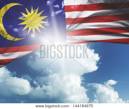 Malaysia flag on a beautiful day