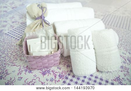 Hotel Amenities Kit. Bar Of Soap Moisturizer Spa Treatment.