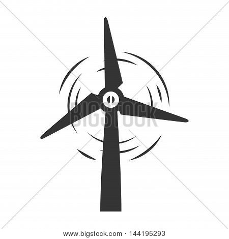wind turbine eolic renewable electricity power energy vector illustration