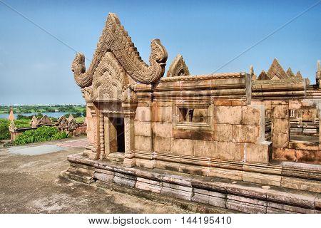 Prasat Phra Wihan (Preah Vihear) copies of temple in Ancient Siam. Samut Prakan, Thailand.