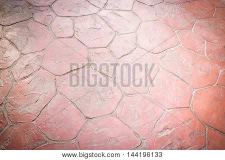 Old red sidewalk texture background stock photo