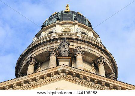 Gendarmenmarkt in Berlin Germany. View on German Cathedral