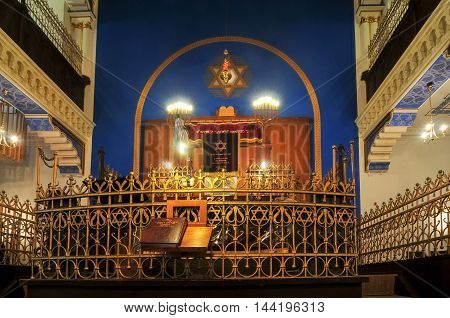 Leipzig, Germany - November 11, 2011: Leipzig Synagogue in Germany. The Brody synagogue is the only synagogue to survive the war.