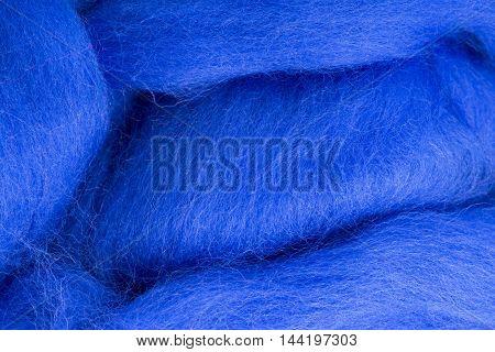 Background & Texture merino wool blue close up