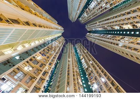 Skyscraper from low angle