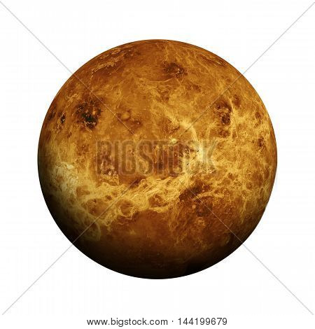 Solar System - Venus. Isolated Planet On White Background.