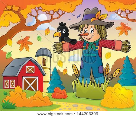 Scarecrow theme image 3 - eps10 vector illustration.