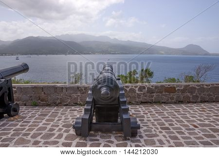 Old Cannon used as defense system at Fort Shirley, Dominica