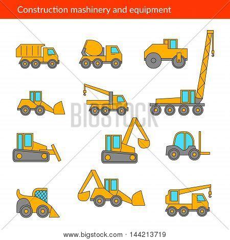 Construction Machines Vector Photo Free Trial Bigstock