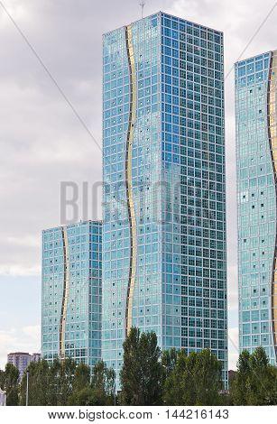 Modern residential complex Grand Alatau in Astana. Kazakhstan