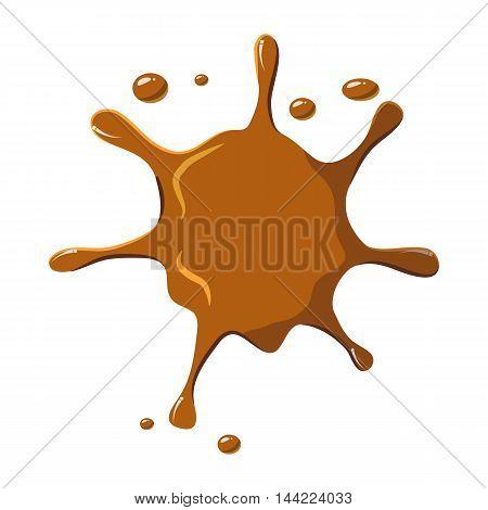 Caramel spatter icon isolated on white background. Sweetness symbol
