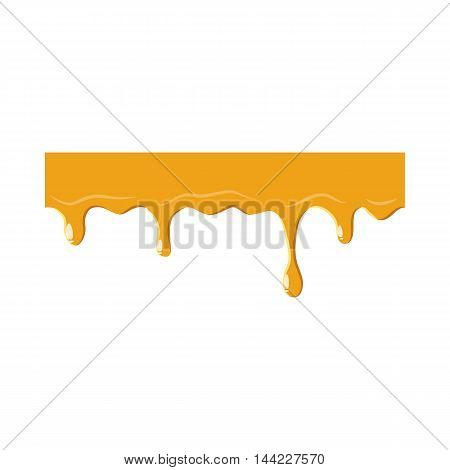 Dripping down honey icon isolated on white background. Product symbol