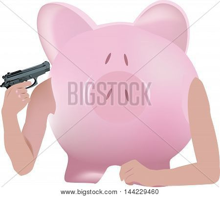 currency crisis devaluation Storage in the form of pig that you shoot