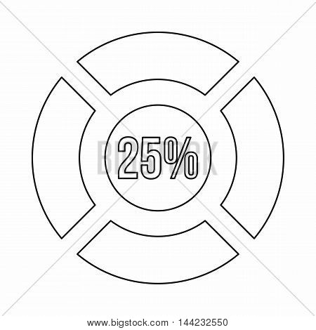 Sign 25 load icon in outline style isolated on white background. Loading symbol