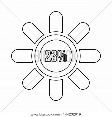 Sign 23 load icon in outline style isolated on white background. Loading symbol