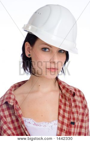 Woman With Hard-Hat