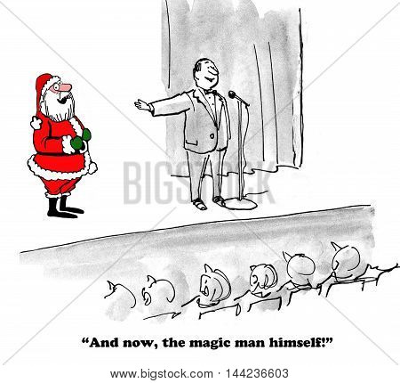 Christmas cartoon that shows Santa Claus is a real person, not a myth.