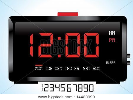 Digital Clock Vector Eps8