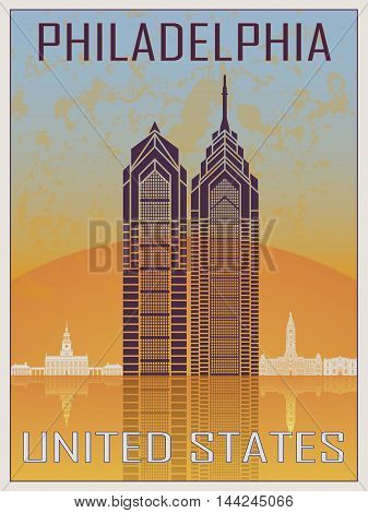 Philadelphia Vintage Poster