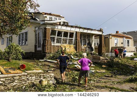 Kokomo - August 24 2016: Several EF3 tornadoes touched down in a residential neighborhood causing millions of dollars in damage. This is the second time in three years this area has been hit by tornadoes 19