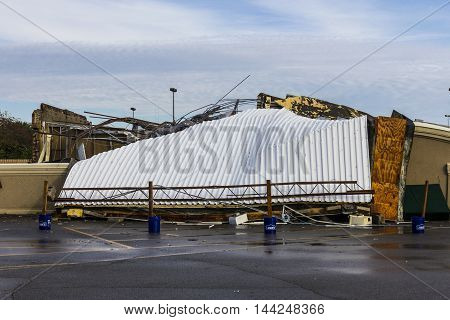 Kokomo - August 24 2016: Several EF3 tornadoes touched down, one of which destroyed a local Starbucks 6