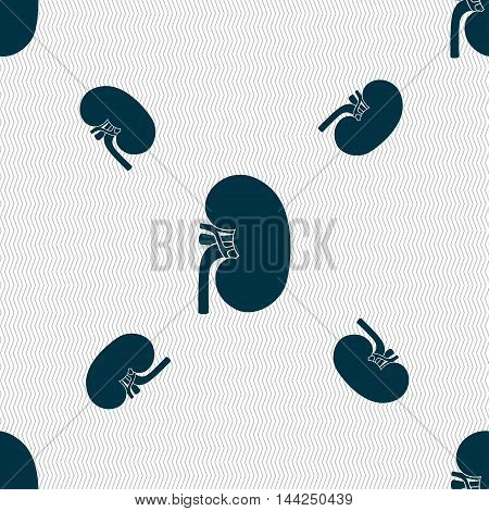 Kidney Sign. Seamless Pattern With Geometric Texture. Vector