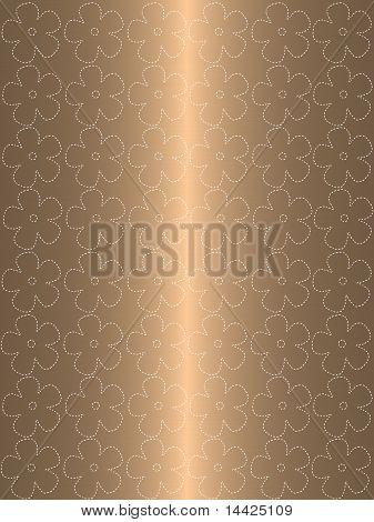 Floral goldenem Hintergrund