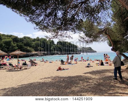 Sunny Beach in Cala Gran Majorca Spain
