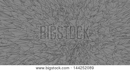 Polygonal graphic background abstract line on gray color