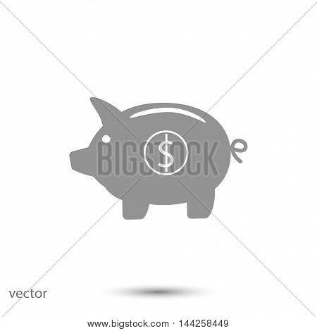 Piggy bank- saving money icon, vector best flat icon EPS