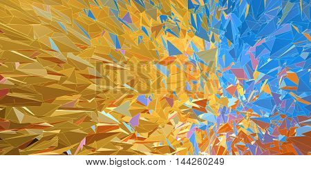 Polygonal colorful abstract graphic background movement look with overlay white line
