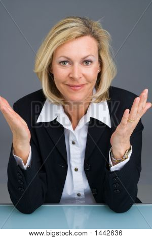 Business Woman Gesturing