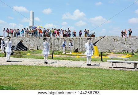 Tourists At La Cabana