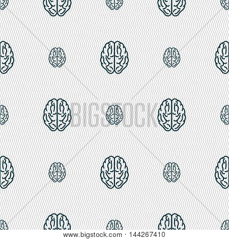 Brain Sign. Seamless Pattern With Geometric Texture. Vector