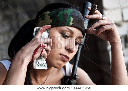 Pretty Mercenary Woman