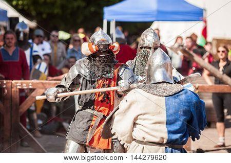 "Estonia, Tallinn - 04 June, 2016: ""old Tallinn Cup"" International Historical Sword Fightin"