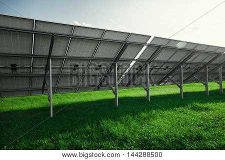 Solar panels generate electricity from the sun. Renewable sources of energy.