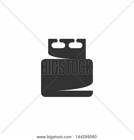Vector USB flash drive icon isolated on a white background. USB flash drive logo in flat style. Simple icon as element for design. Vector symbol, sign, pictogram, illustration