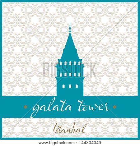 istanbul galata tower logo, icon and symbol vector illustration
