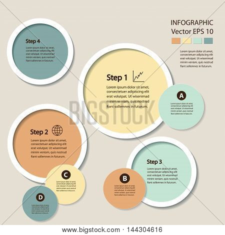 Infographics. Process chart module. Template for cycling diagram, graph, presentation and round chart.