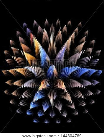 Abstract fractal 3D fantastic plant computer generated image