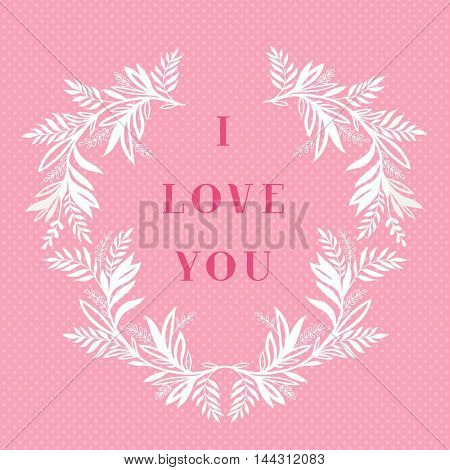 I love you greeting card design.