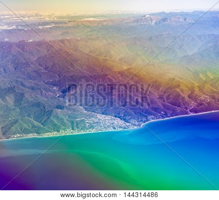 Sky Over Black Sea And Caucasus Mountains