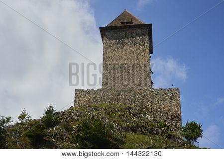 The Kasperk castle in Sumava National Park Czech Republic