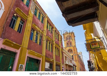 CARTAGENA COLOMBIA - MAY 23: View of University of Cartagena in Cartagena Colombia on May 23 2016