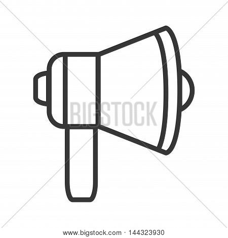 megaphone amplifer announce speech icon. Flat and isolated design. Vector illustration