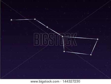 Big Dipper Ursa Major sky constellation illustration