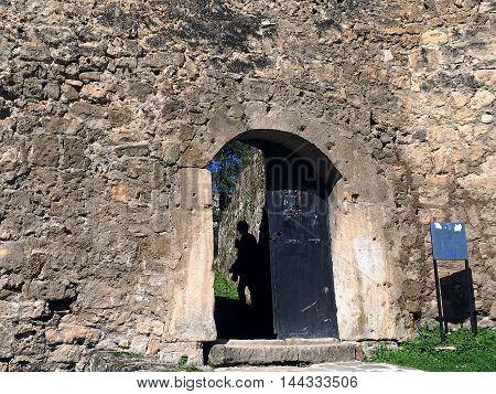 The old castle in the Jajce,Bosnia and Herzegovina