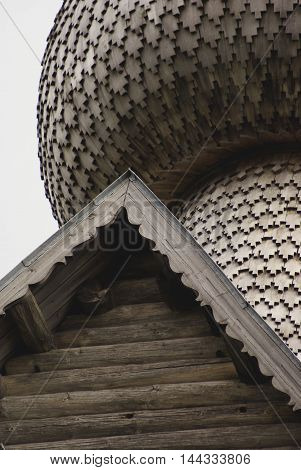 Old Timber Church on Shore of Seliger Lake, Russia